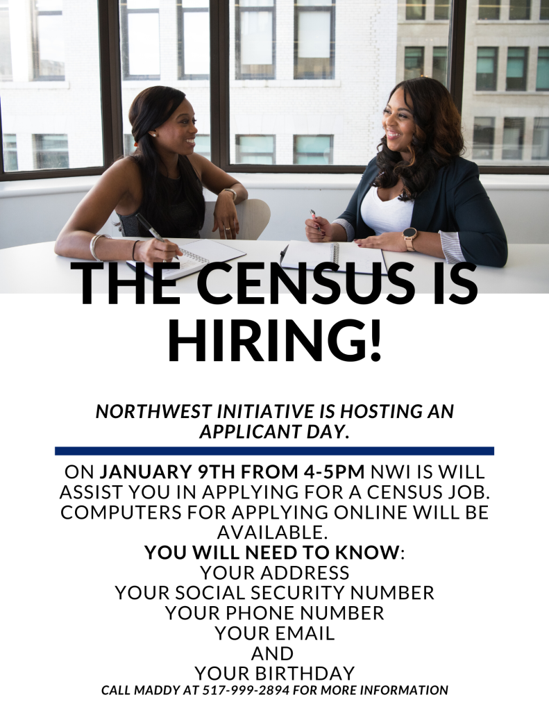 THE CENSUS IS HIRING!